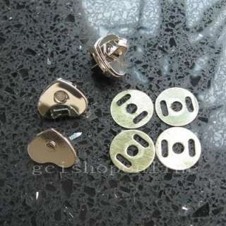 Love Heart Magnetic snaps purse closures, 14mm silver snap clip
