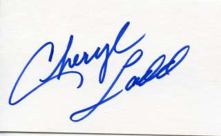 CHERYL LADD of CHARLIES ANGELS: Autograph