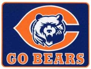 CHICAGO BEARS GO BEARS BUMPER STICKER DECAL