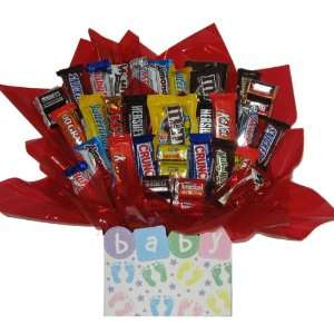 Chocolate Candy bouquet in a Baby Steps box