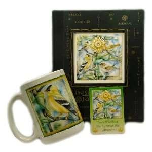 GOLDFINCH Garden songbird bird gift set by jody Bergsma Featuring 15