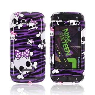Skulls Purple Zebra Hard Case For Samsung Sidekick 4G