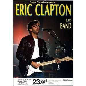 Eric Clapton   Rush 1992   CONCERT   POSTER from GERMANY