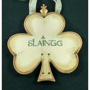 Irish Ceramic Shamrock Ornament Slainte Celtic Traditions