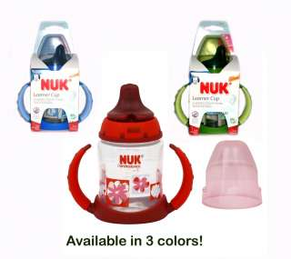Gerber/Nuk No Spill Learner/Sippy Cup w/ LATEX Spout 6+ 885131627179