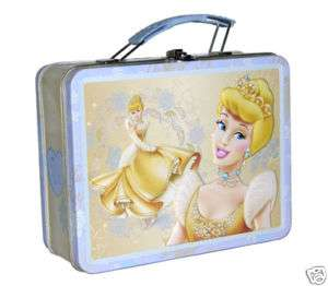 Disney Princess Cinderella Storage Tin Lunch Box Bag NW