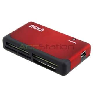 USB 2.0 26 All in One Sim Card Memory Card Reader Black Red