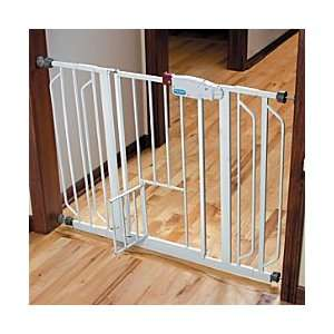 Extra Wide Walk Through Pet Gate With Small Door   Improvements: Baby