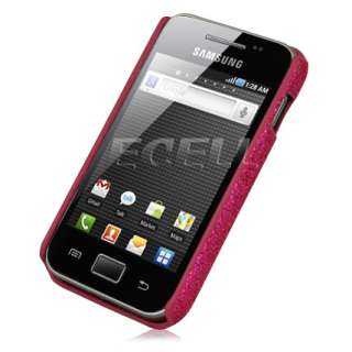 ecell designer range glitter back case for samsung galaxy ace hot pink