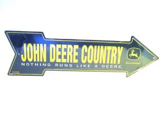 JOHN DEERE COUNTRY ARROW METAL STREET SIGN