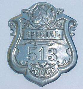Obsolete 40s Denver Colo Special Police Badge Maker Mrk