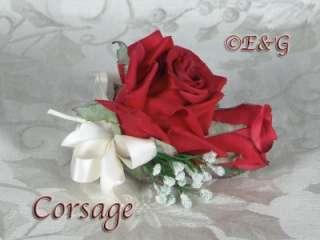 Love SHANTI RED Wedding Bouquet Bride Bridal Bridesmaid Groom Corsage
