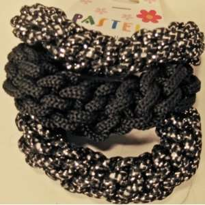 and Glitter Stretch Hair Ponytail Holder Head Band