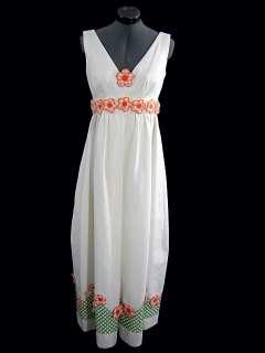 Vintage 60s Lillie Rubin Mod Hippie Flower Child Evening Dress
