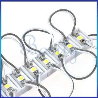 20pcs SMD 5050 LED Module White Waterproof Modules 12V