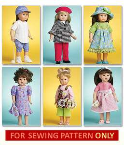 SEWING PATTERN MAKE AMERICAN GIRL DOLL CLOTHES SOFTBALL OUTFIT FOR