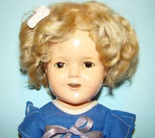1935 Ideal Shirley Temple Compo Doll Our Little Girl Dress NRA Tag
