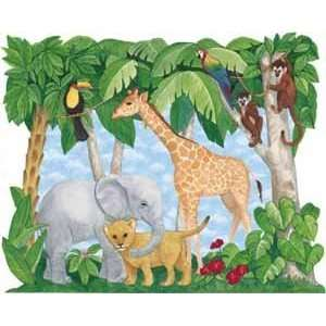 Baby Mural by Fun Décor For Kids   Baby Jungle Animals Mural Baby