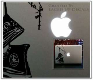 chuck taylors hanging Converse mac skin vinyl decal