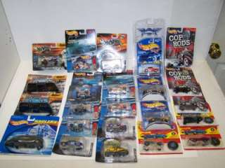 HOT WHEELS COP RODS Die Cast Cars LOT NEW Final Run Mattel Racing