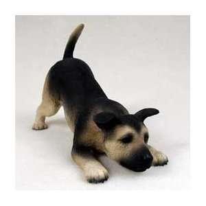 5 German Shepherd Puppy Dog Figurine