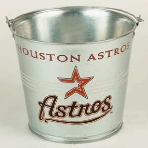 Houston Astros Galvanized Pail 5 Quart   Ice Buckets