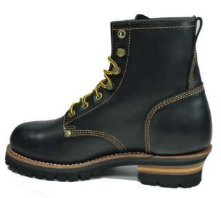 Boots Men Size Black Leather Lace Up Work Boots Shoes 7210 BOL