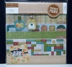 Colorbok Perfect Pages Scrapbook Page Kit, Family Ties over 145 pieces
