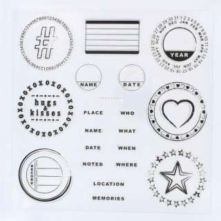 Lil Davis Scrapbooking Clear Stamps Noted 26 Piece Set 020335012943