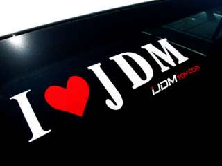 Love JDM Vinyl Decal Sticker by iJDMTOY LED Light Exp