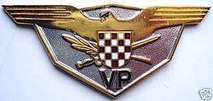 CROATIA ARMY   HVO / MILITARY POLICE HAT BADGE ,rare