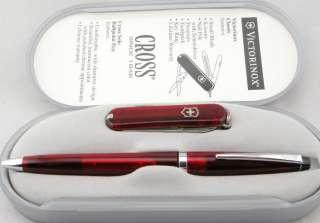 Cross Ballpoint Pen and Victorinox Knife Set