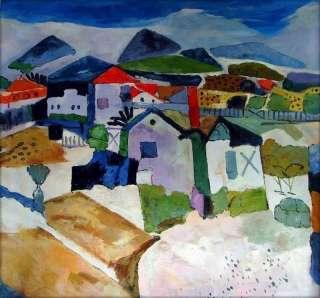 Hand Painted Oil Painting Repro Paul Klee View of Saun Germain
