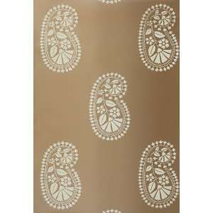 com Indore Paisley Bronze by F Schumacher Wallpaper Home Improvement