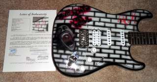 FLOYD Signed THE WALL Custom Airbrushed Guitar JSA LOA X07040