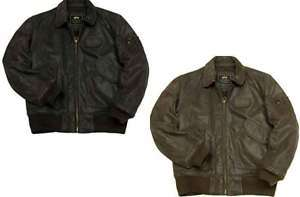 ALPHA INDUSTRIES CWU 45/P LEATHER FLIGHT BOMBER JACKET