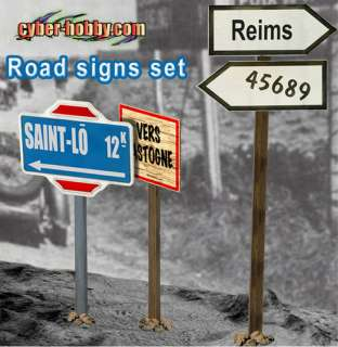 Dragon Cyber Hobby 1/6 Scale WWII German Road Signs 1