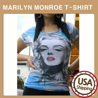DAMO Marilyn Monroe T Shirt Sublimation with Stone