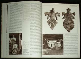 BOOK Antique Russian Folk Art costume embroidery wood carving lacquer