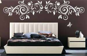 Floral Tree Branch Butterfly Flower Vinyl Wall Decal