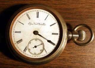 Antique Elgin Pocket Watch 1886 11jewel Open Face SW LS 18 Size