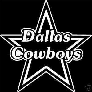 Dallas Cowboys Star Football Car Window Decal Sticker