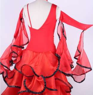 Flamenco Latin Ballroom Dance Dress performance dress #S8002