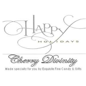 Custom Labeled Gift Happy Holidays Cherry Divinity: