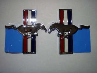 2006   2012 FORD MUSTANG FACTORY PONY FENDER EMBLEMS