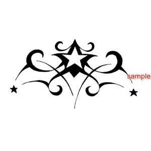 TRIBAL STAR DESIGN WHITE VINYL DECAL STICKER Everything