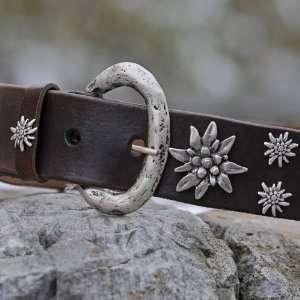 Sima of Austria   Brown Leather Fashion Belt 85cm