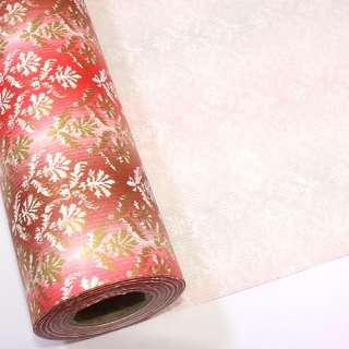 Damask Red BULK Gift Ream Roll Wrapping Paper 82ft 25M
