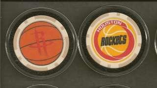 POKER CHIP CARD GUARD BASKETBALL HOUSTON ROCKETS NBA