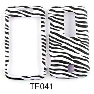 CELL PHONE CASE COVER FOR HUAWEI ASCEND M860 RUBBERIZED BLACK WHITE